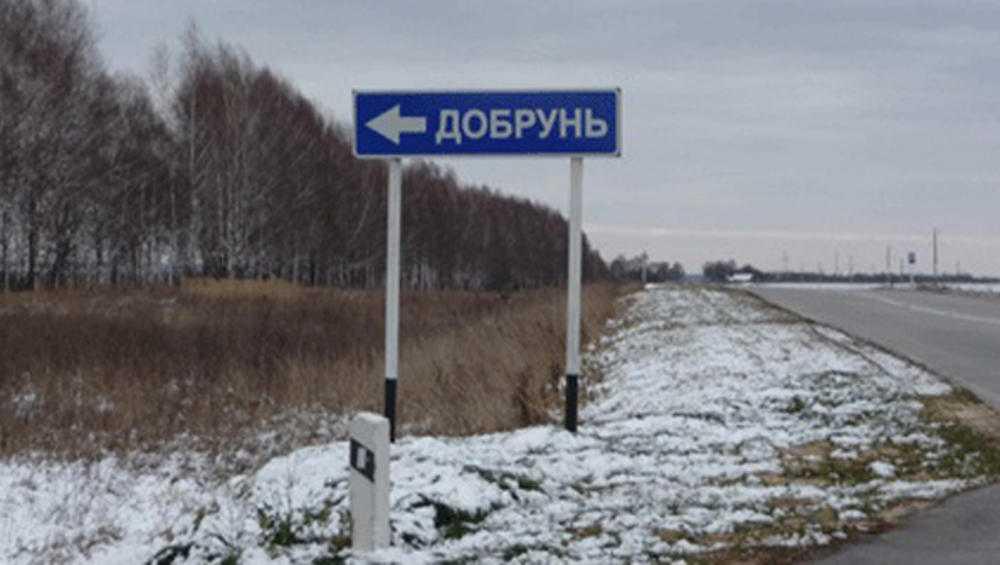 Жители Добруни пожаловались на запрет остановки у поворота на поселок