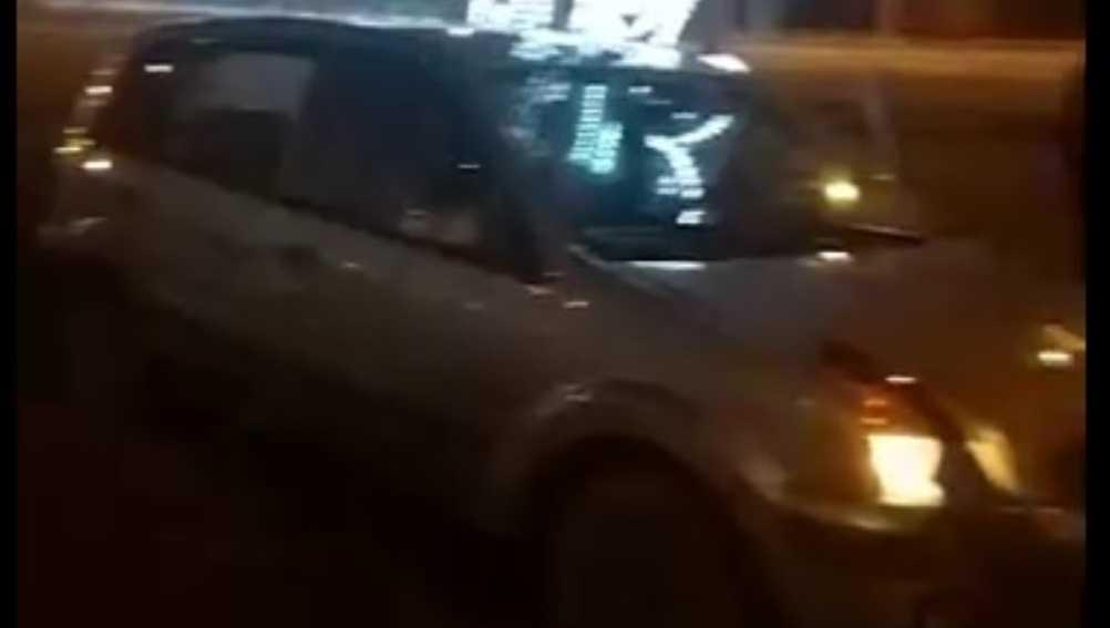 В Брянске сняли видео о ночном ДТП возле «Полтинника»