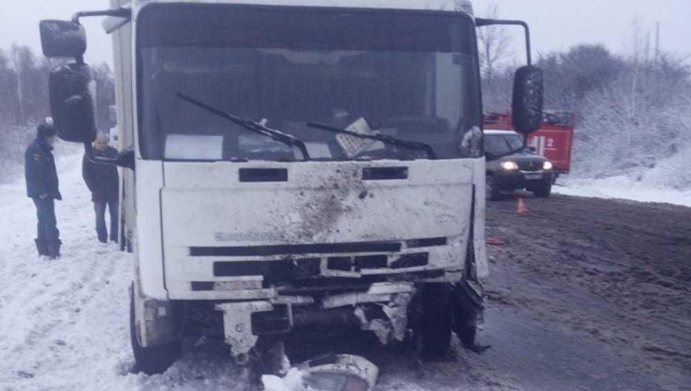 Под Брянском в ДТП с легковушками и грузовиком погиб водитель