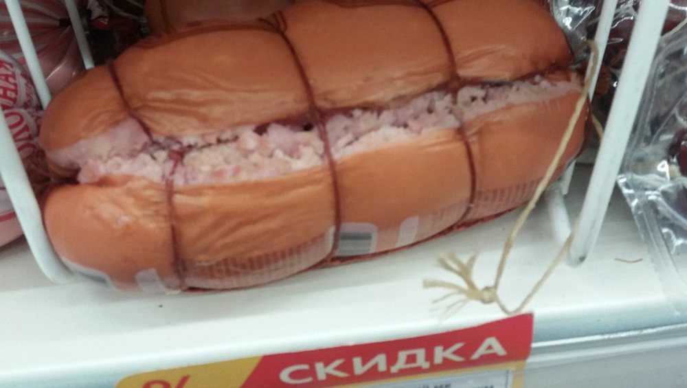 В Клинцах продали со скидкой взорвавшуюся колбасу