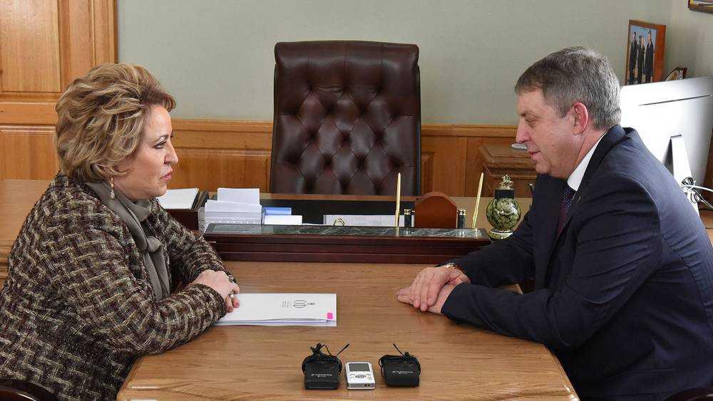Валентина Матвиенко назвала главную черту брянского губернатора