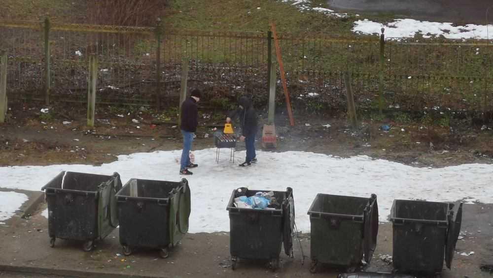 Брянцы устроили пикник с шашлыками возле мусорных контейнеров