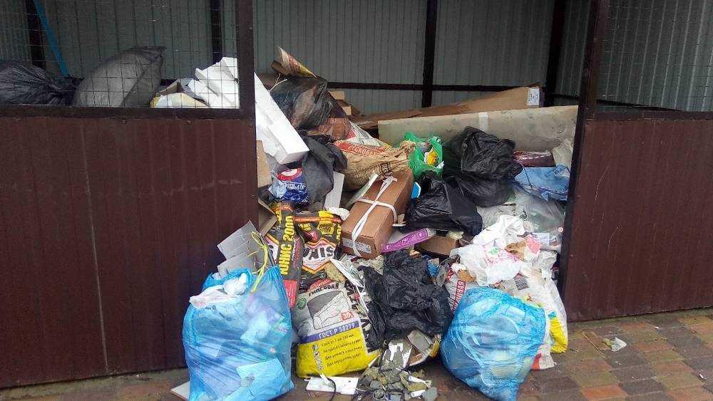 Брянская новостройка превратилась в мусорный квартал