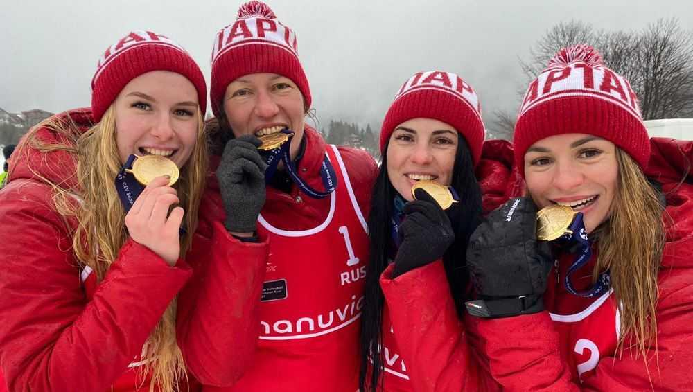 Брянские спартаковки стали чемпионками Европы по снежному волейболу
