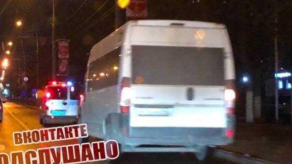 Брянские полицейские устроили погоню за маршруткой