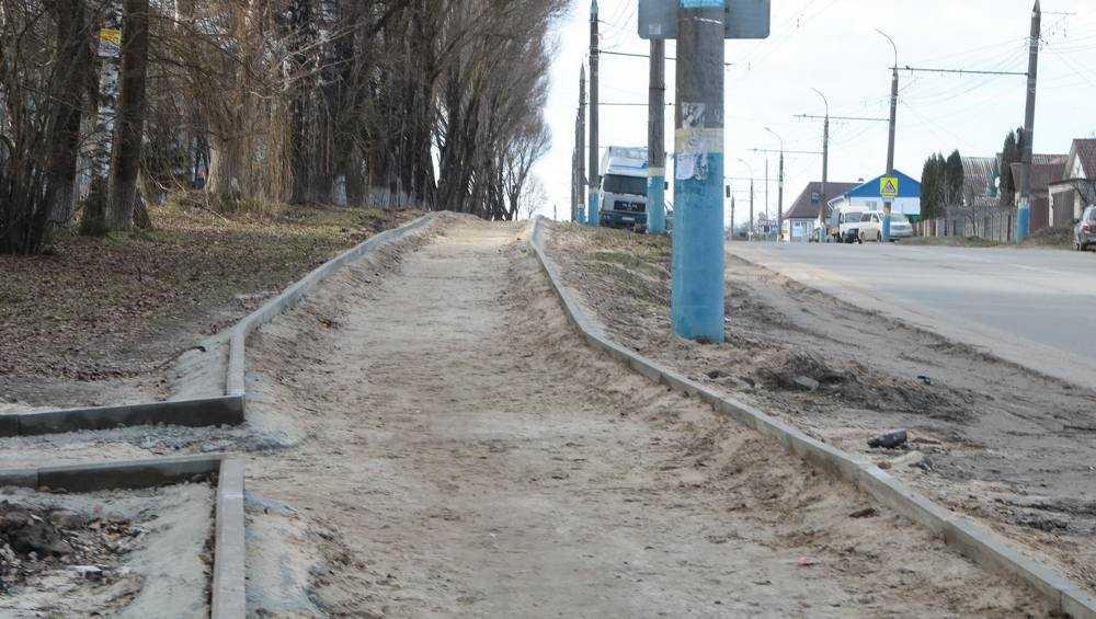 В Брянске на обустраиваемой Бежицкой улице выявили брак строителей