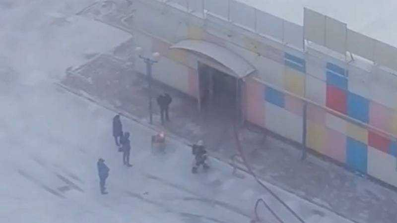 В Брянске произошел пожар в супермаркете «Варяг»