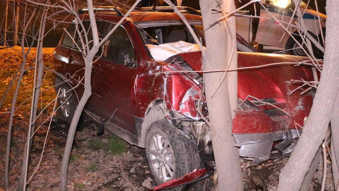 Под Брянском молодой водитель легковушки наехал на дерево