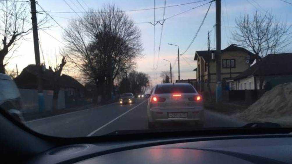 В Брянске образовалась пробка на улице Бежицкой