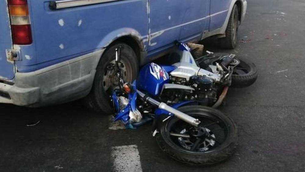 В Стародубе мотоциклист протаранил «ГАЗель»