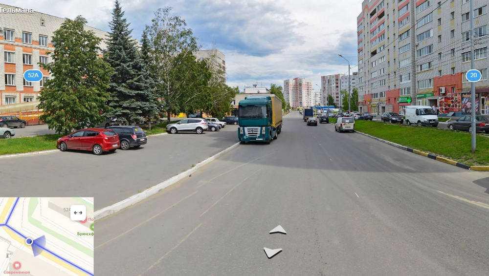В Брянске на улице Тельмана запретили парковку автомобилей