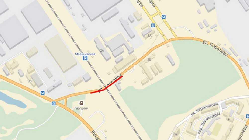Завтра в Брянске ограничат движение через переезд на Мальцевской