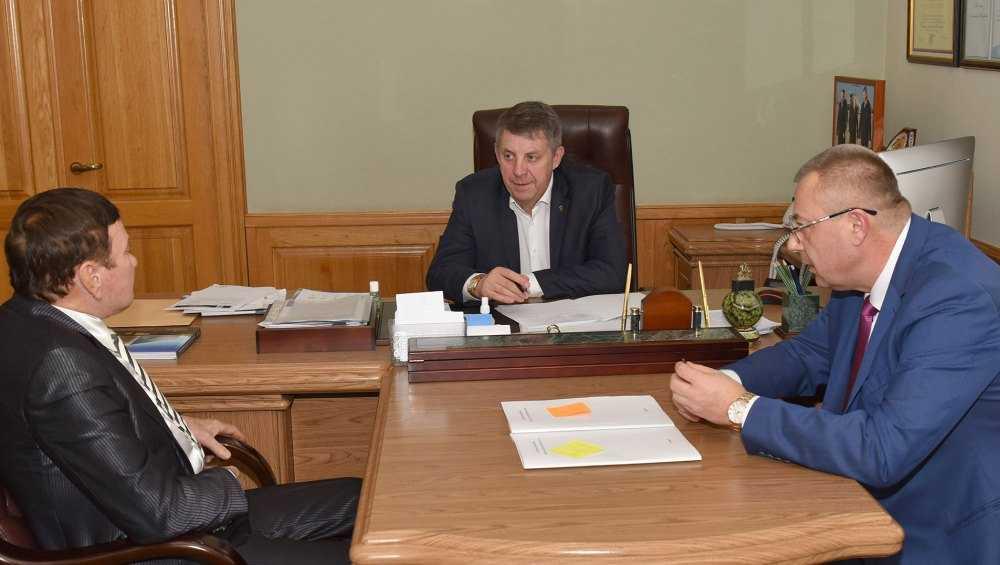 Брянскому губернатору рассказали о развитии завода силикатного кирпича