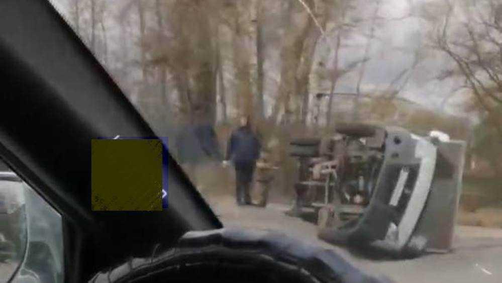 Под Брянском возле посёлка Бордовичи перевернулась «Газель»