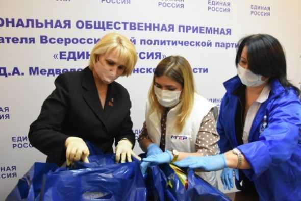 Депутат областной Думы Антонина Катянина передала продукты для жителей региона, оказавшихся в непростой жизненной ситуации