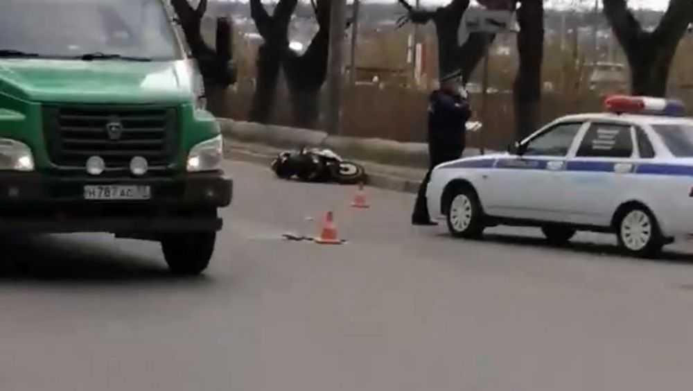 В Брянске сняли видео гибели мотоциклиста в ДТП на Литейной