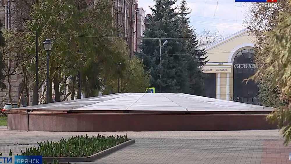 В Брянске начнут пробные запуски фонтанов