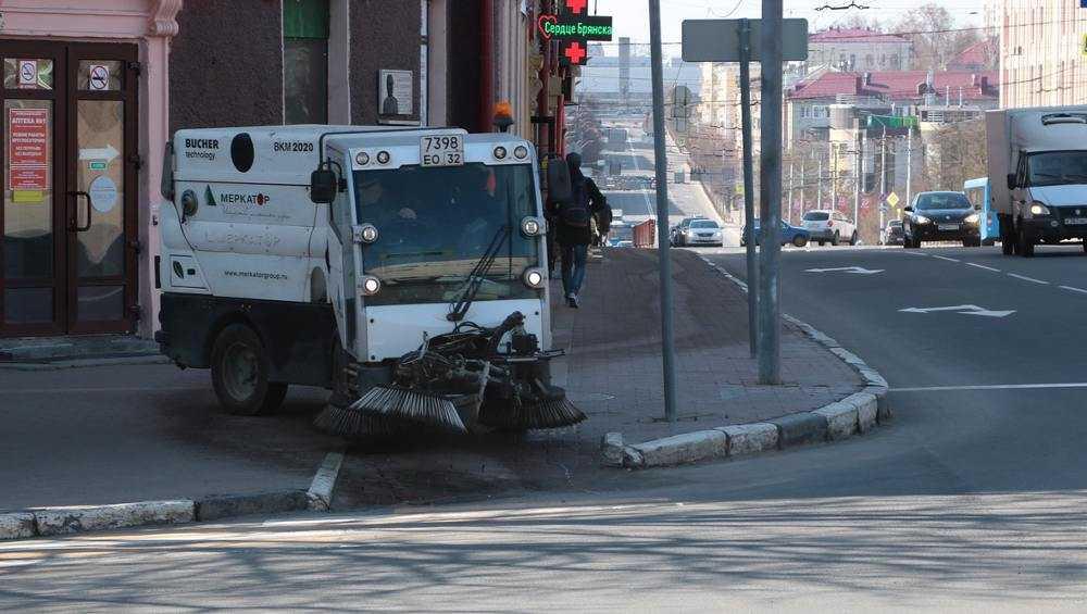 В Брянске за день убрали с дорог и тротуаров 717 тонн песка