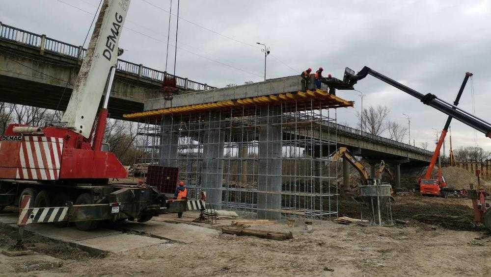 В Брянске продолжилось строительство нового Литейного моста
