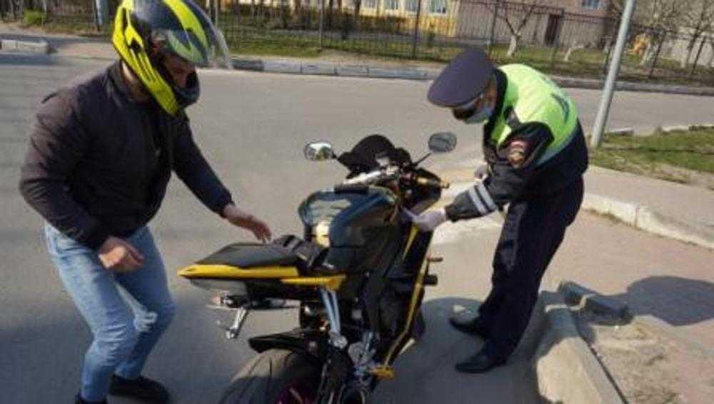 В Брянске скрытый патруль ДПС за час задержал 5 байкеров-нарушителей