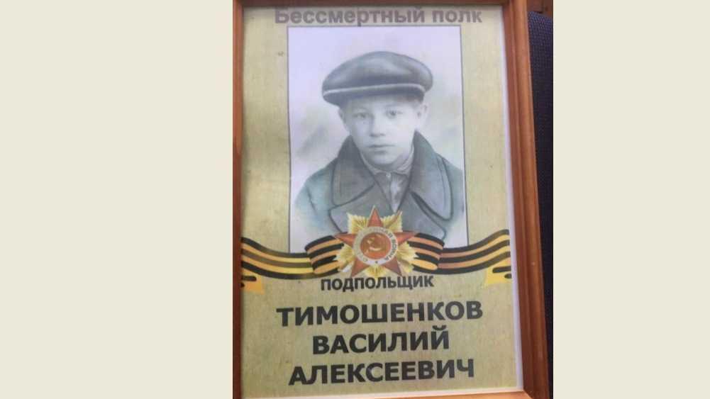 Вспомним Победителей поимённо: Тимошенков Василий Алексеевич