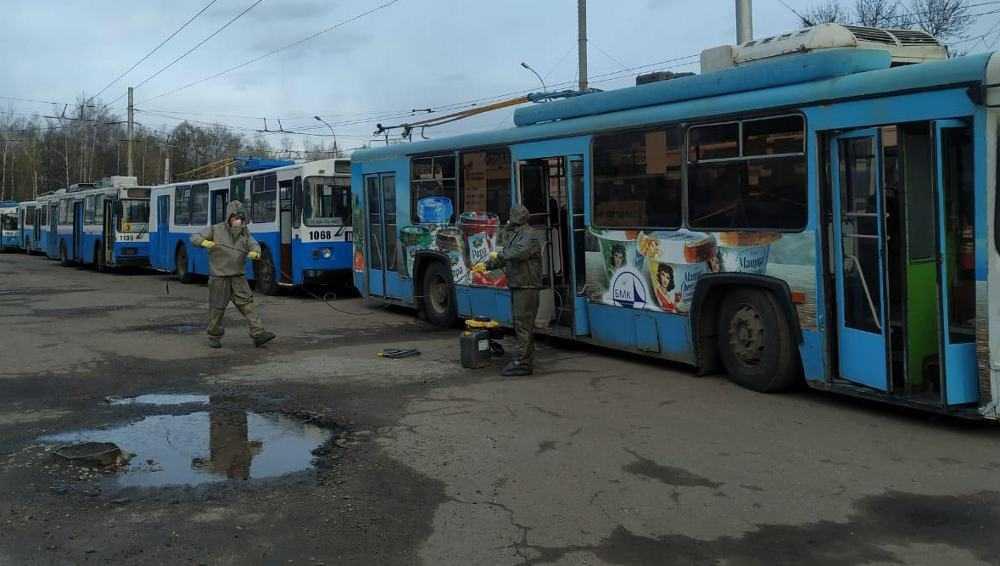 В Брянске завтра продезинфицируют все 70 имеющихся троллейбусов