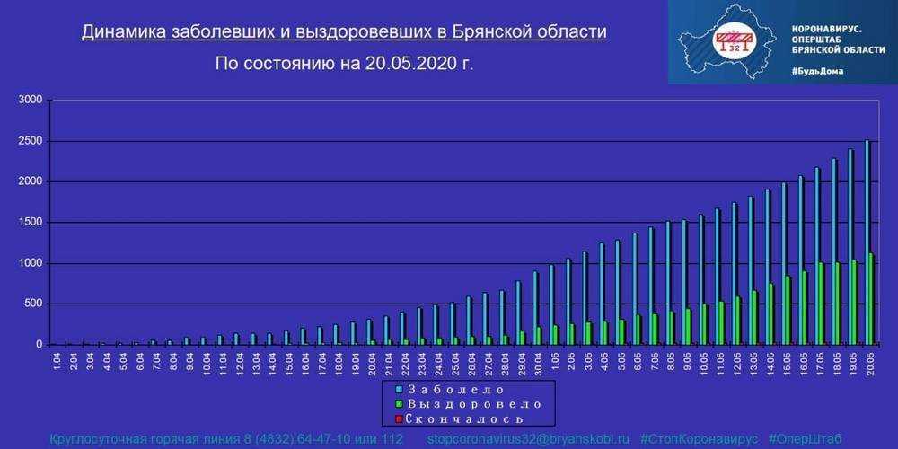 В Брянске опубликовали карту распространения коронавируса