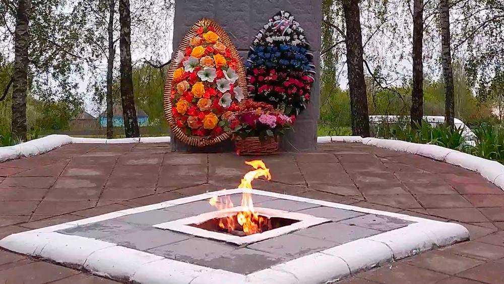 В брянском селе зажгли Вечный огонь