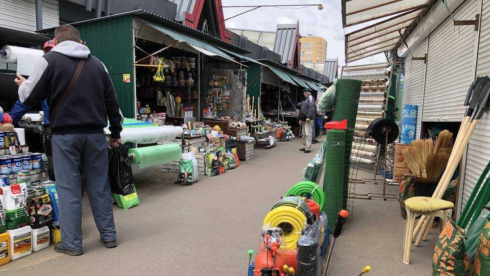 В Брянске на рынках развернулась бойкая торговля товарами для дачников