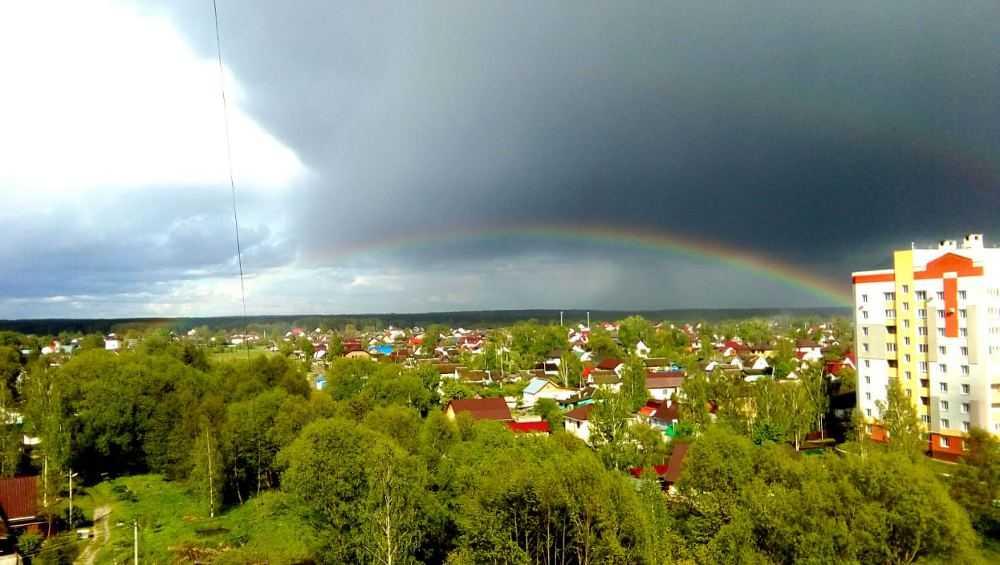 В Брянской области неожиданно выпал град
