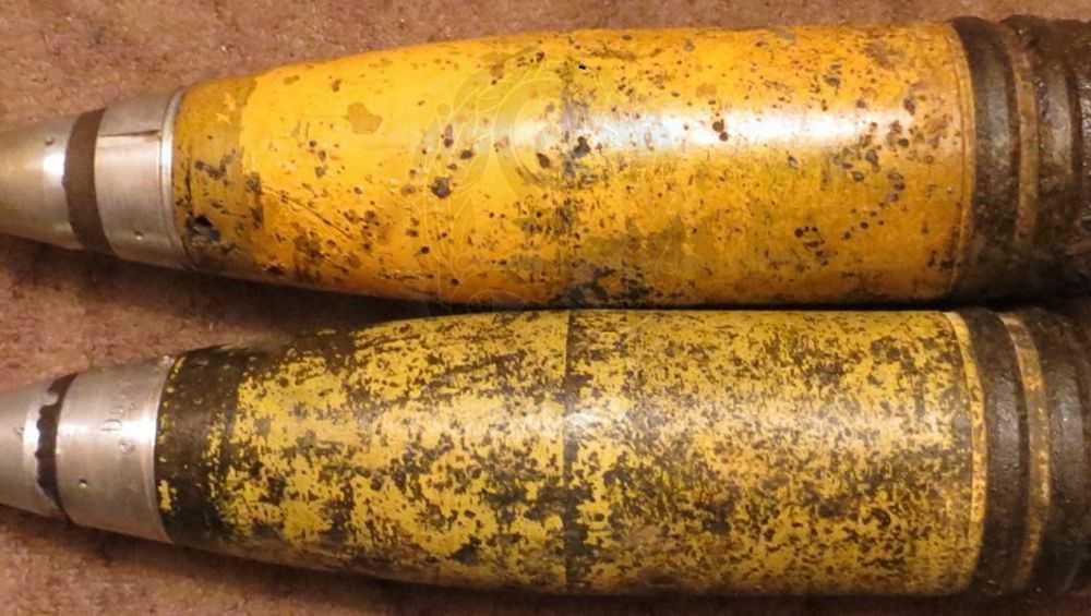 В День Победы под Сещей нашли два немецких артиллерийских снаряда