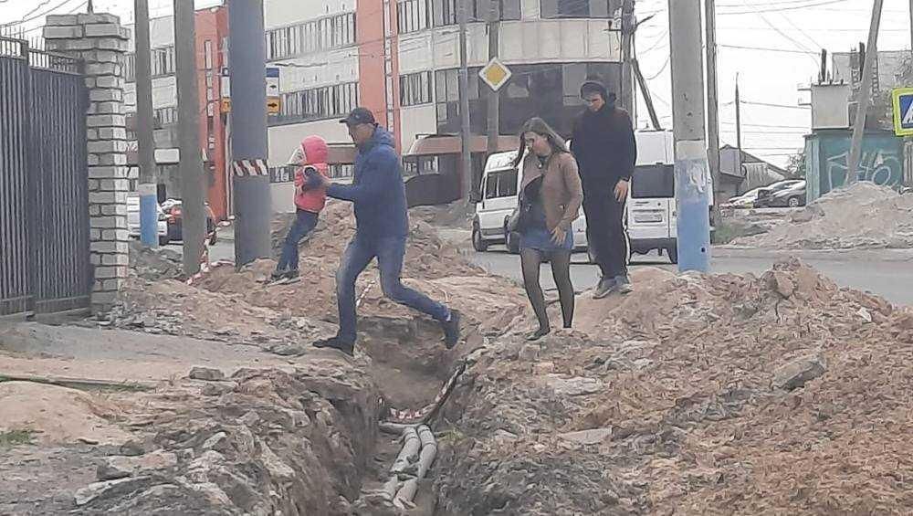 Брянцы пожаловались на полосу препятствий на Объездной улице