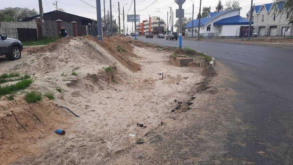Брянцы пожаловались на полосу препятствий по улице Объездной