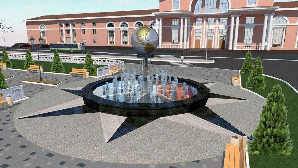 В Брянске появятся 45-метровый каскадный фонтан и земной шар с подсветкой