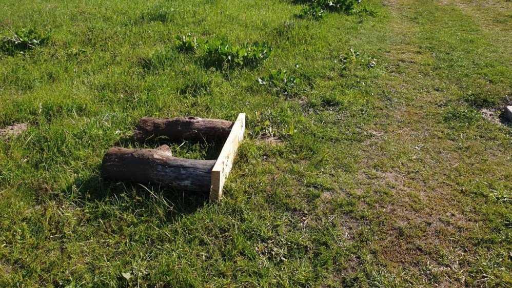 В Навле неизвестные вандалы сломали скамейку на берегу реки