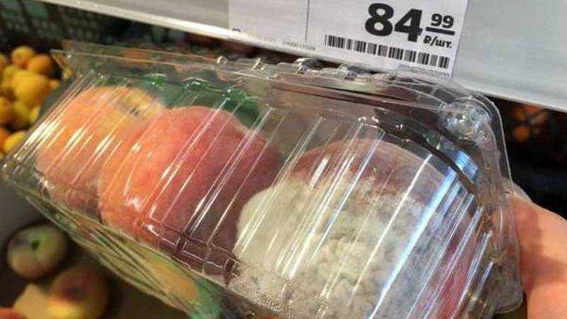 Брянский магазин предложил в качестве новинки нектарин с плесенью