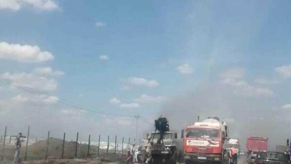 Под Брянском на объездной дороге потушили горевший автомобиль