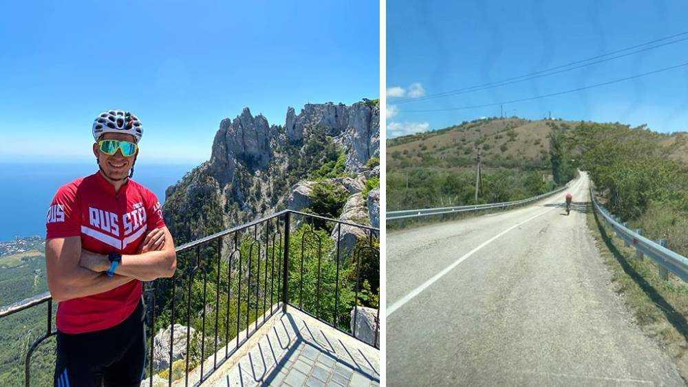 Брянский лыжник Большунов на велосипеде за 5 часов заехал на Ай-Петри