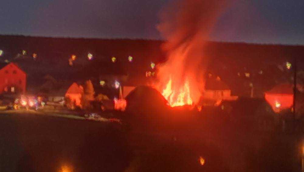В Бежице сгорел частный двухэтажный дом