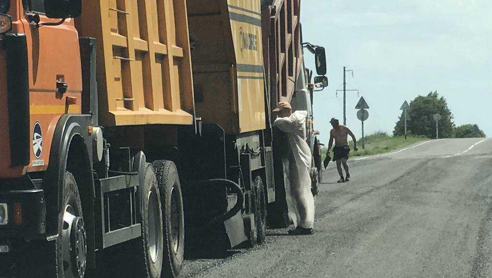 Брянский дорожник вышел на работу в эротичном костюме медсестры
