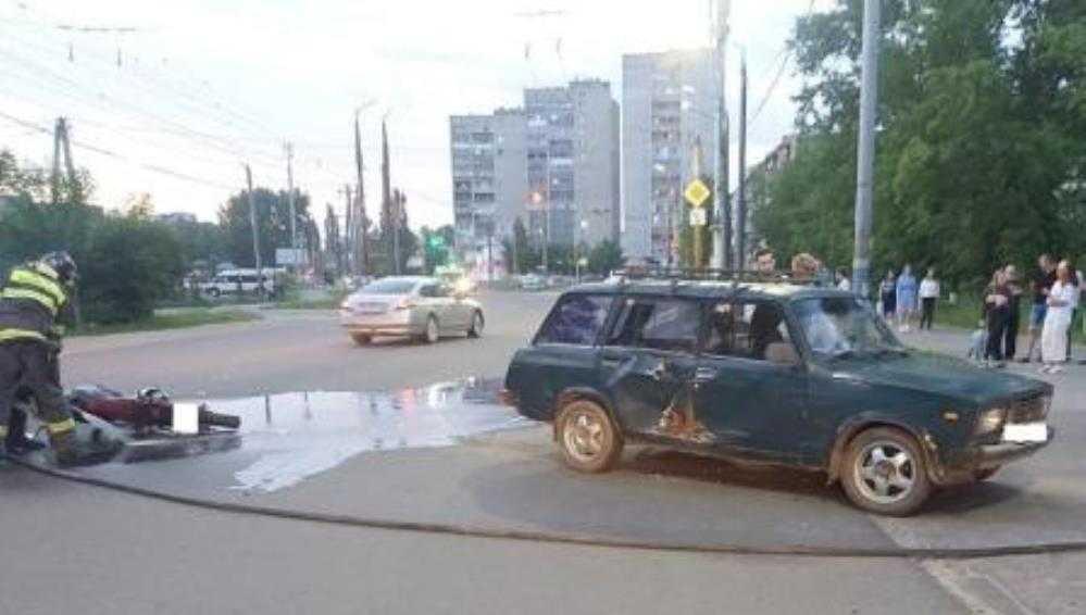В Брянске водитель ВАЗ покалечил 33-летнего мотоциклиста