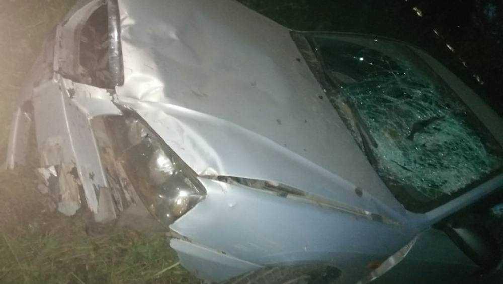 В Выгоничском районе пьяный водитель сбил человека и врезался в столб