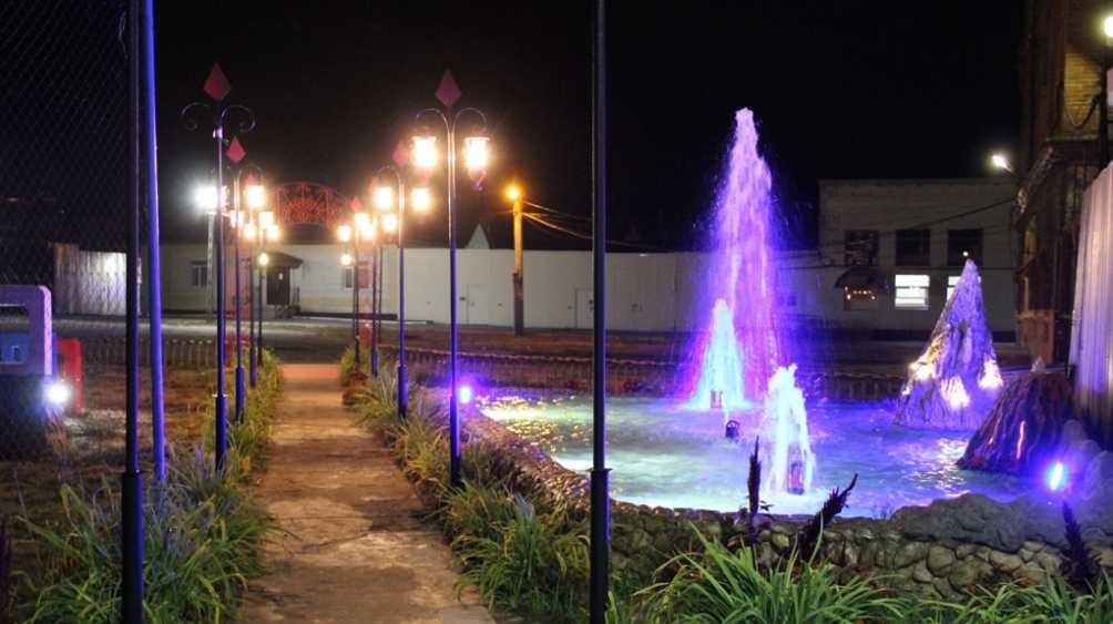 В колонии Стародуба Брянской области запустили три фонтана