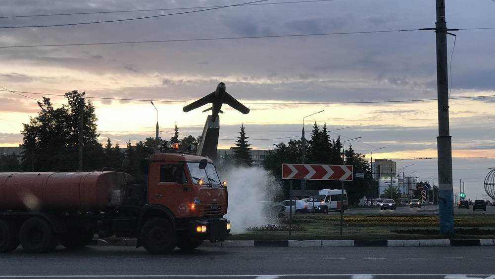 На спасение цветов в Брянске вышли поливочные машины