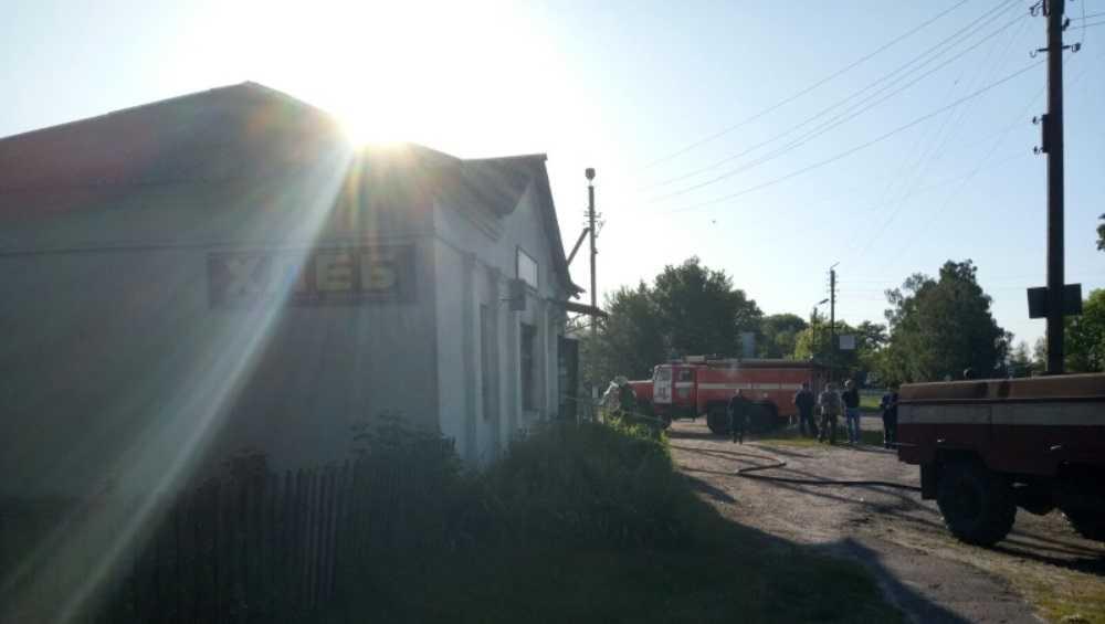 В Климовском районе Брянской области утром 17 июня сгорел магазин
