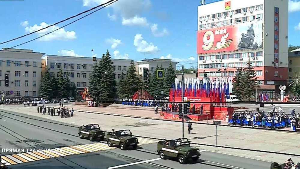В Брянске прошел торжественный марш в честь 75-летия Победы