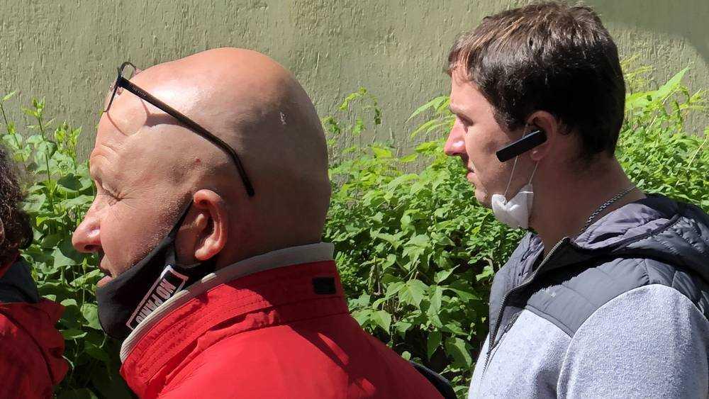 В Брянске на набережной полиция провела проверку масочного режима