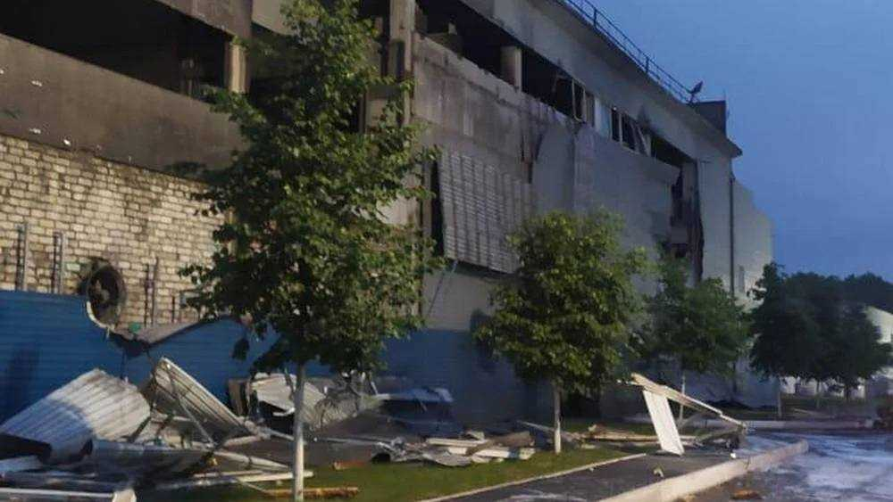 Появилось видео взрыва на заводе «Вольфрам» в Унече