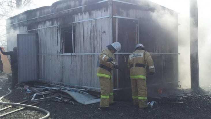 В Дятькове Брянской области сгорел вагончик
