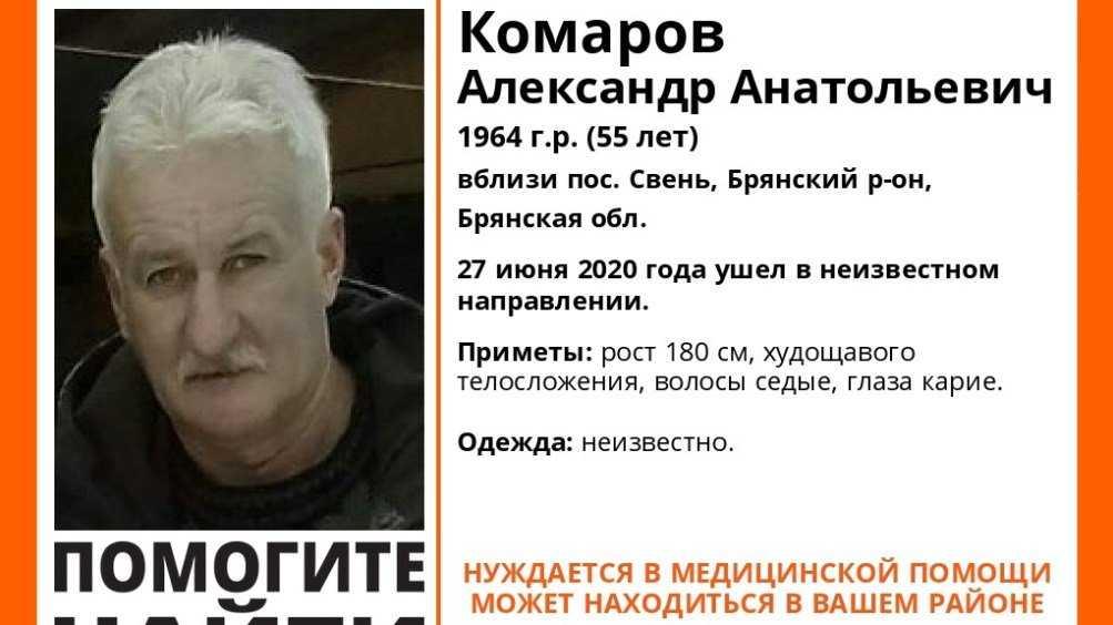 Под Брянском продолжились поиски пропавшего Александра Комарова